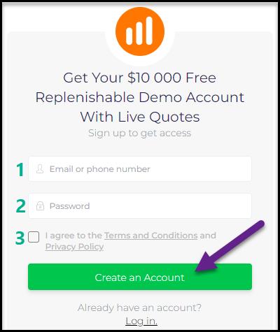 IqBroker - Registration Form