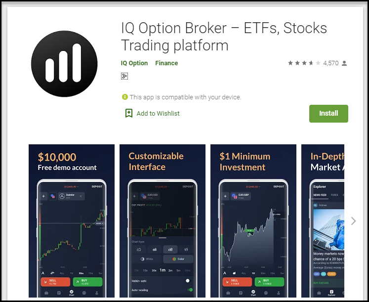 IqBroker Android application