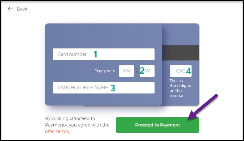 Bank card deposit