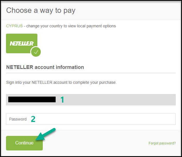 Add funds / make deposit by Neteller on IqBroker (iqoption)