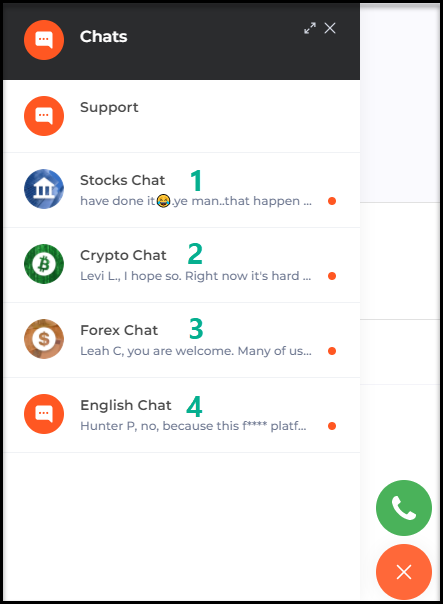 IqBroker contact by live chat