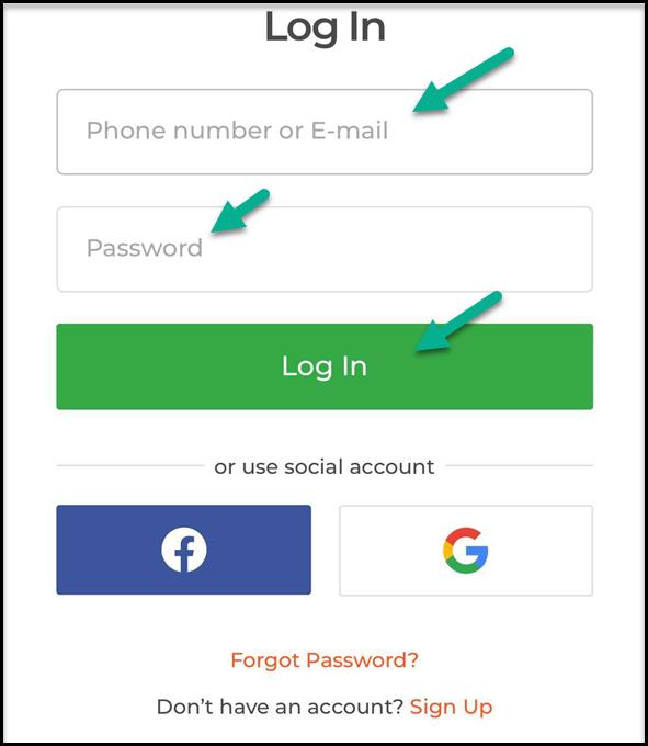 IqBroker - fill login form