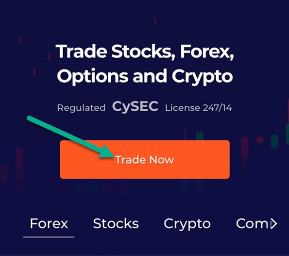 IqBroker - start trade after registration