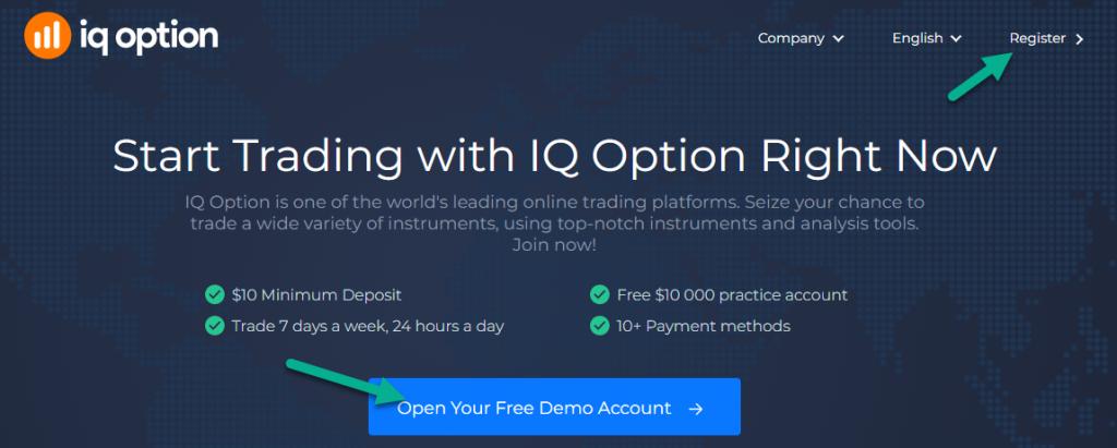 IqBroker - Open / Register account
