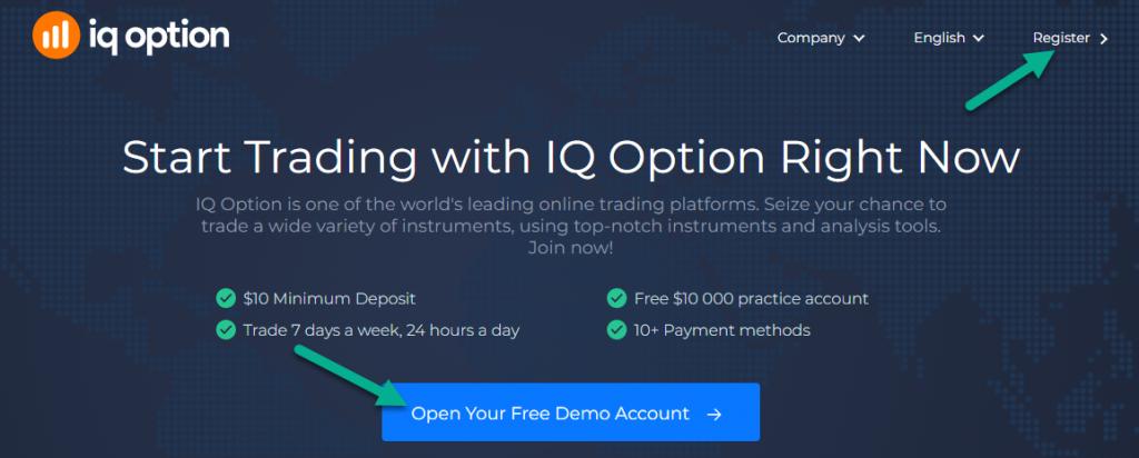 IqBroker - Registration / Open account